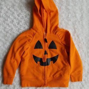 Pumpkin zip up hoodie 🎃